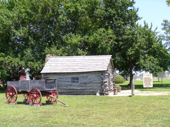 The cabin is a replica - but is placed as accurately as possible