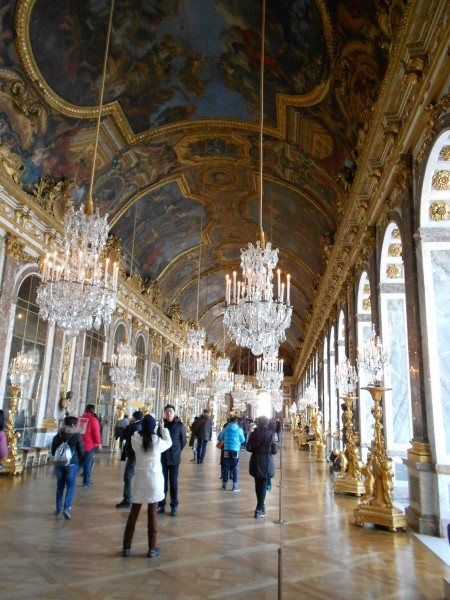 The infamous hall of mirrors.
