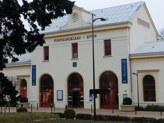 The train station at Fountainebleau