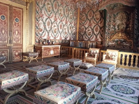 The bedroom Marie Antoinette designed but never used.