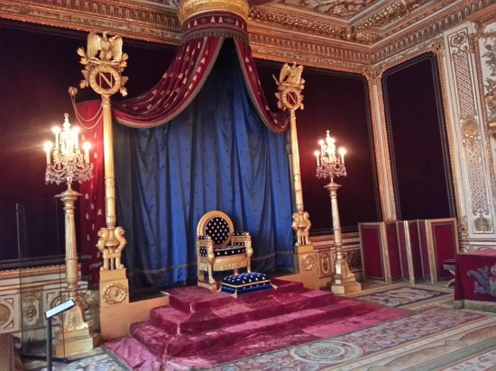 Napoleon's throne room. The only such room remaining in France with the original furnishings.