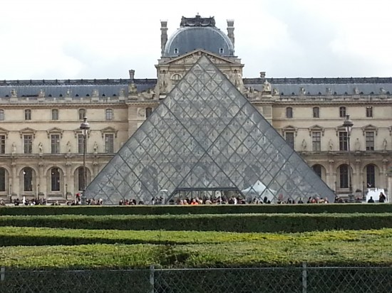 The pyramid at the Louvre. So wrong, yet so right.