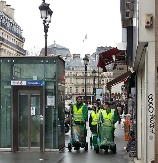 Street cleaners, they have a daunting task!