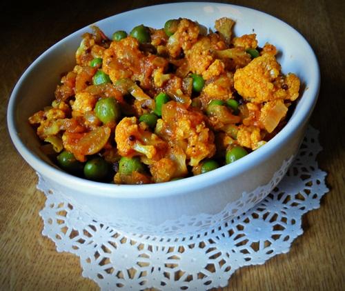 Cauliflower & Peas - Yum!