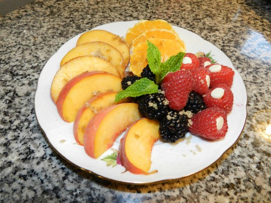 1st course fresh fruit plate