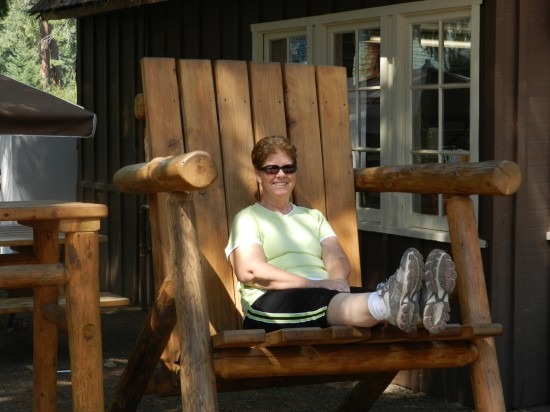Paul Bunyan's chair. Where else have you seen this photo?