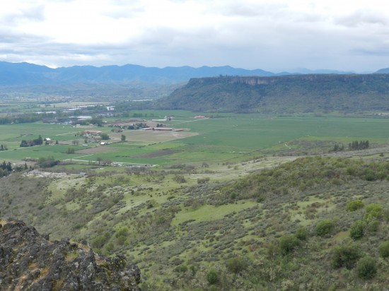 Looking across the valley toward Lower Table Rock