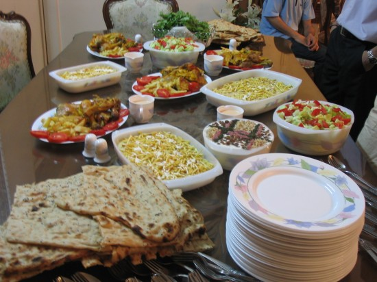 The Persian dinner table