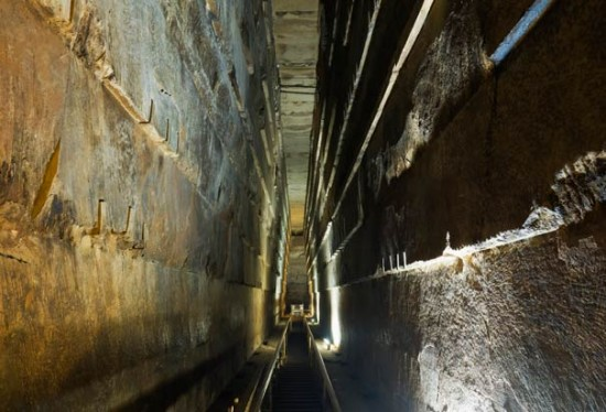 The grand gallery leads to the burial chamber of King Khufu - Photo Credit: Jochen Schlenker/Robert Harding World Imagery/Corbis)