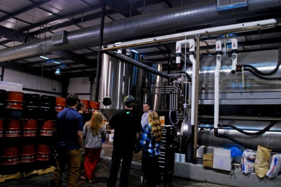 Touring the brewery