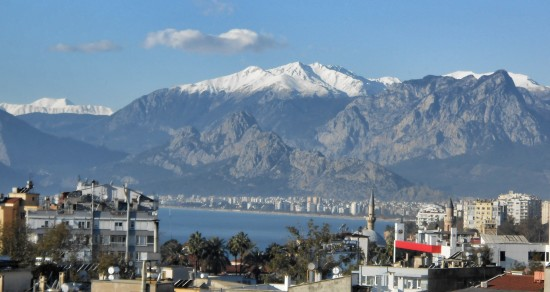 View of Taurus Mountains from Tomer, Antalya