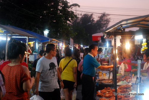 Night market in Ayutthaya, Thailand. Some of the best street food we've ever had