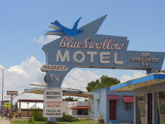 The Blue Swallow Motel - where they offer refrigeratered air