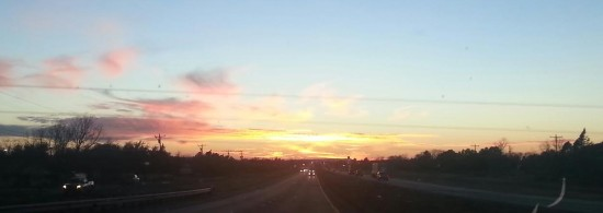 Sunset over west Texas on Hwy 20