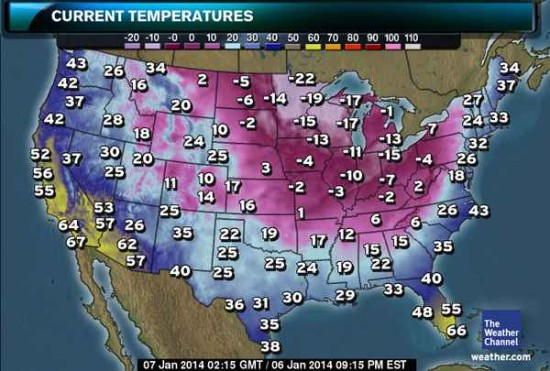 The entire country is shivering with cold