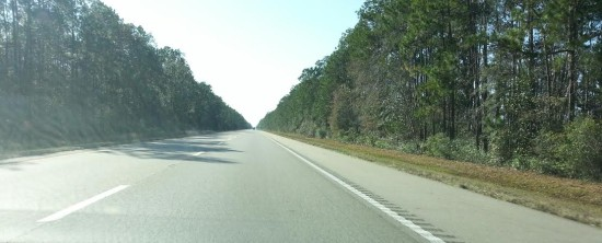 No exaggeration, this is the highway across Florida, Alabama and Mississippi - although Mississippi was more swampy