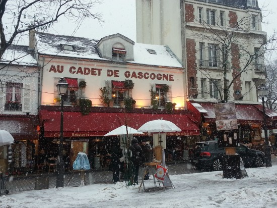 Picture perfect - Montmarte in the snow!