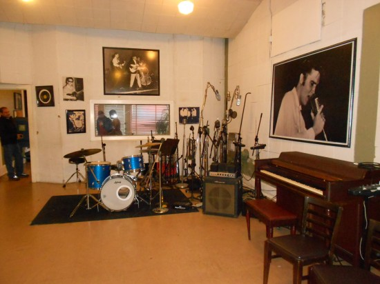 The studio, where it all happened.