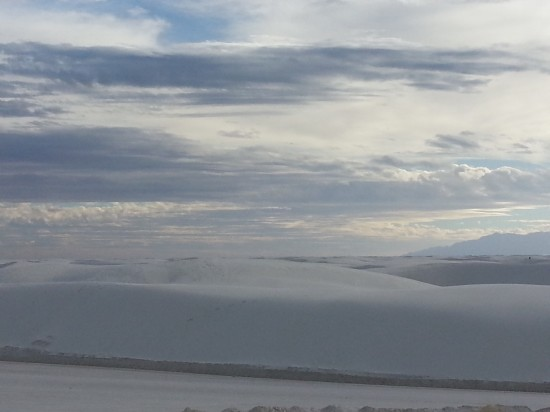 Where the clouds settle on the dunes - White Sands National Park, Las Cruces, NM