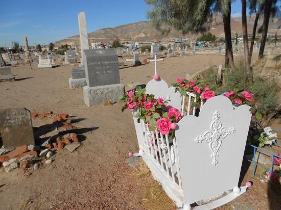 Many claim this cradle still rocks - Concordia Cemetery - El Paso, TX
