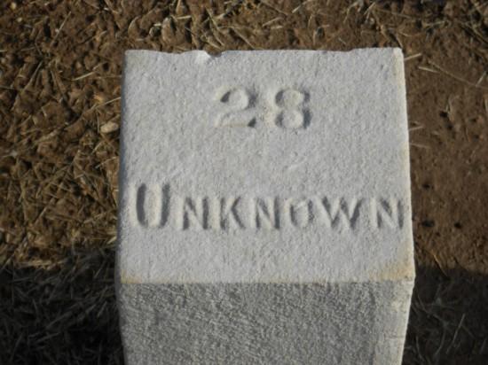Unknown confederate soldier - McGavock confederate cemetery, Franklin, TN