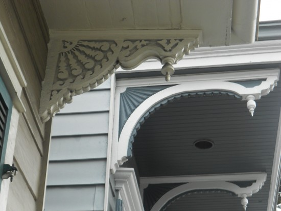 Architectural details in the French Quarter - New Orleans, LA