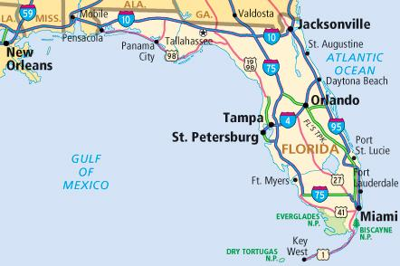 Theres No Work In A Florida Holiday One Road At A Time - Florida coastal cities map