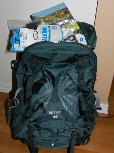 My new pack, gifted to me by my monkey sister who is - as I write this - walking the Camino with her husband and friend