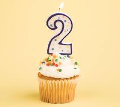 2 birthday cupcake