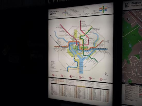 The Metro map. It's all color-coded, and once you get the hang of it, it's actually very user-friendly.
