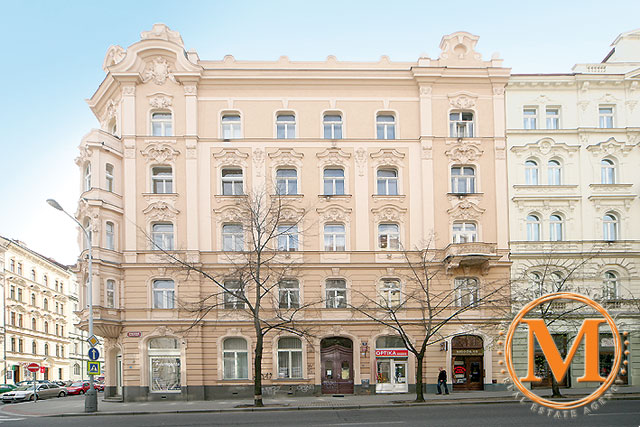 We've rented an apartment in this lovely building in Prague 1.