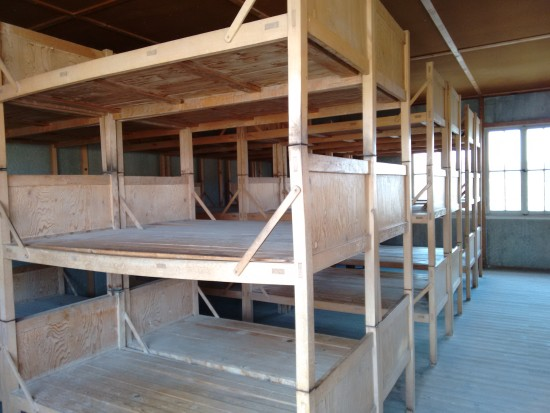 As the number of prisoners increased the sleeping cots increased. This is phase 2 of the camp.