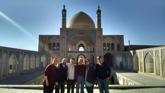 Me and the boys at the Agha Bozorg Mosque - built in the late 18th century - in Kashan.