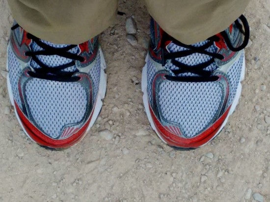 My relief shoes. I change shoes every couple of hours.