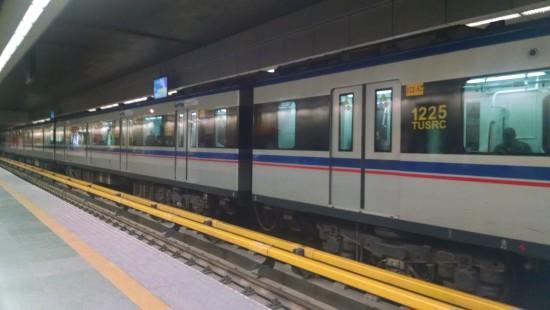 Tehran subway - clean and efficient.