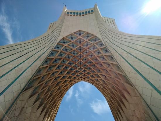 The iconic Azadi Tower.