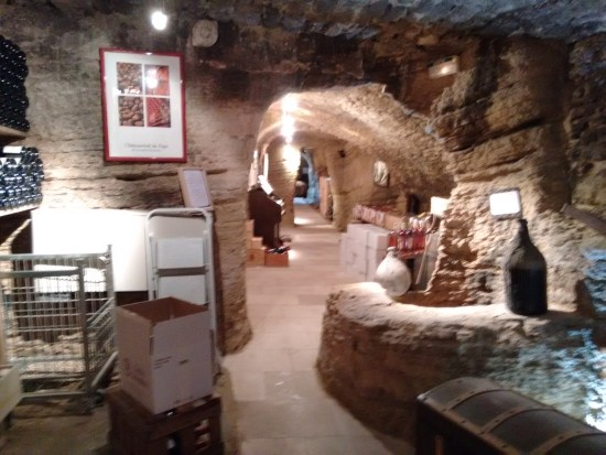 One of the pope's caves/cellars.