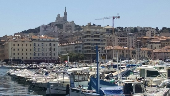 The very busy port in Marseille.