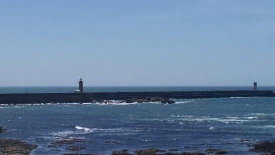 Beautiful coast line - Porto, Portugal.