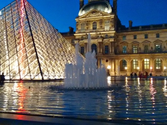 The glass pyramid at the Louvre - Paris