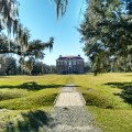 The back door of Drayton Hall, approaching from the river.