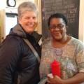 Me and Ms. Theresa at Wall's BBQ.