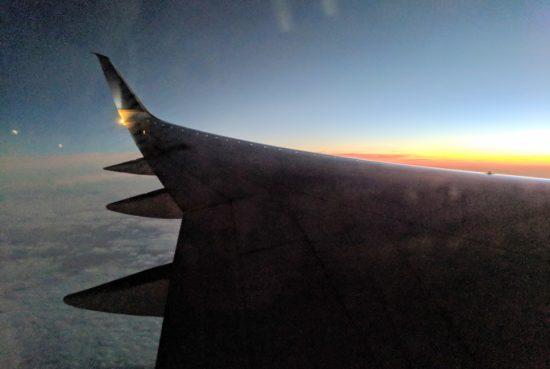 red-eye flight