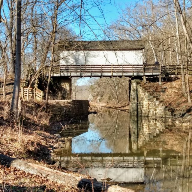 Reflections of a foot bridge over the Potomac River. #greatfalls #greatfallsmd #potomac #potomacriver #postcardsfromtheworld #picture #photography #naturephotography